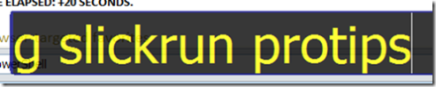 SlickRun - google search MagicWord in action